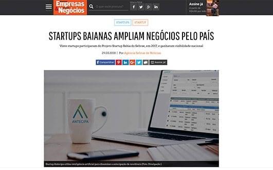Startups baianas ampliam negócios pelo país.